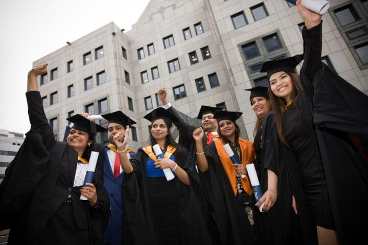 University of Sunderland in London students at graduation