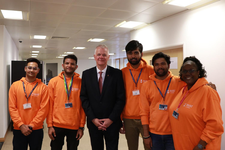 David Bell and London Student Ambassadors