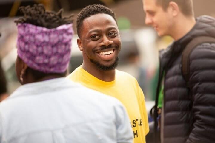 University of Sunderland in London student smiling