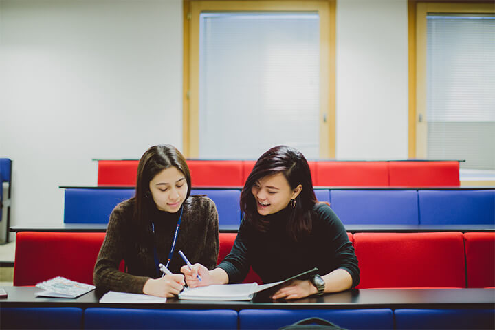 Two University of Sunderland in London students studying