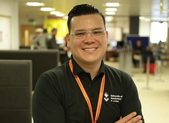 University of Sunderland in London student Luis Pereira