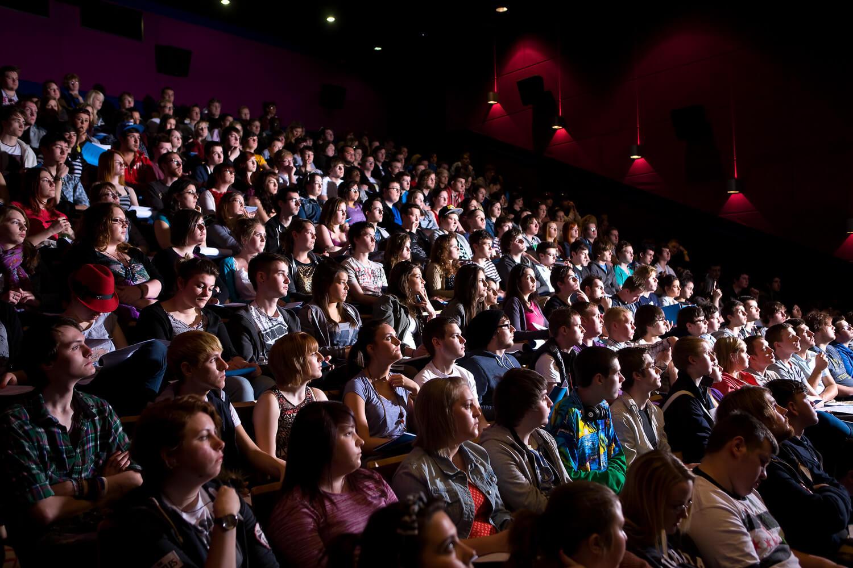 University of Sunderland students in a cinema
